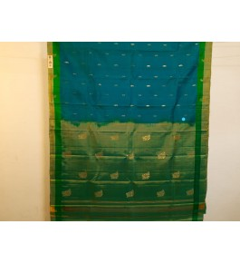 Alluring Handmade Green Colour Molakalmuru Saree For Women