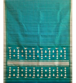 Elegant Handmade Green Colour Molakalmuru Saree For Women