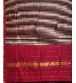 Beautiful Handmade Red Colour Molakalmuru Saree For Women