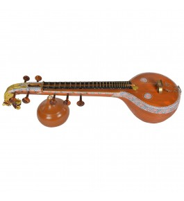 Colourful Designed Thanjavur Veenai (Tanjore Veena) for Classical Music Lovers