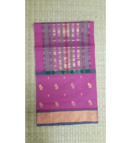 Beautiful Venkatagiri Cotton Blend Zari Work Pink Saree For Women