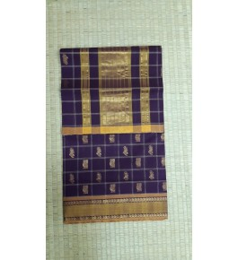 Handloom Venkatagiri Cotton Blend Purple Saree For Women