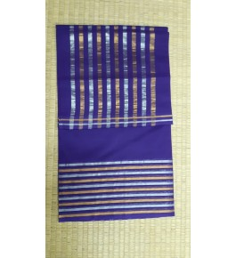 Beautiful Venkatagiri Cotton Blend Zari Work Purple Saree For Women