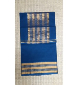 Beautiful Venkatagiri Cotton Blend Zari Work Blue Saree For Women