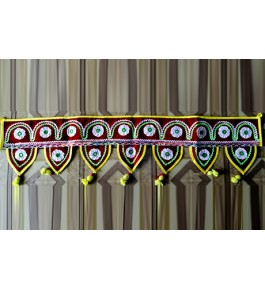 Handmade Traditional Pipli Applique Work Multicolor Toran