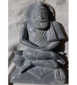 "Traditional Carved Konark Stone Carving 6"" Statue for Home Decor"