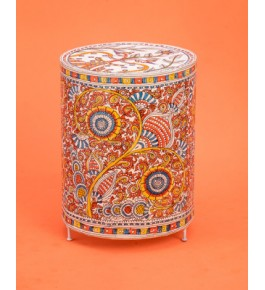 Andhra Pradesh Leather Puppetry Cylindrical Lamp Shade
