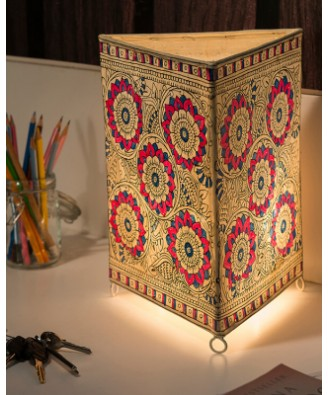 Andhra Pradesh Leather Puppetry Triangle Lamp Shade