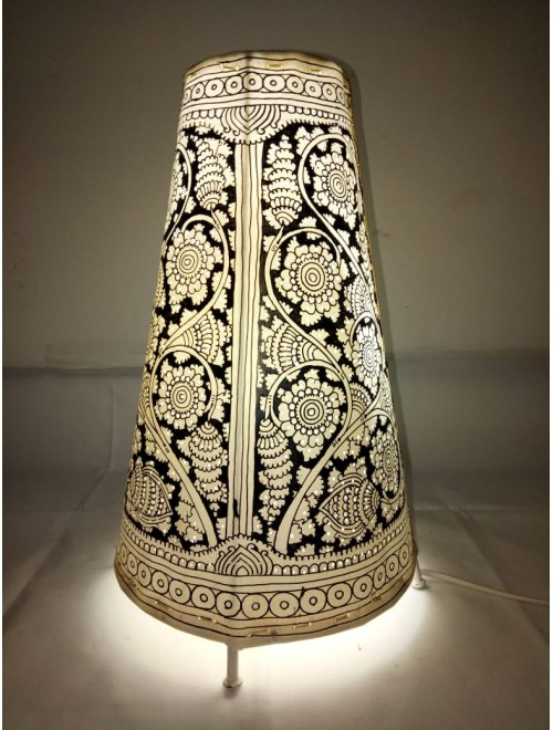 Andhra Pradesh Leather Puppetry Round Floor Lamp Shade