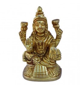 Handmade Brass Black Adilabad Dokra Metal Goddess Lakshmi for Home Decor
