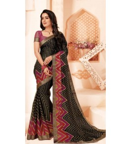 Beautiful Khushi Brasso Mehndi Saree For Women By Nannumal Ved Prakash