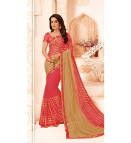 Beautiful Khushi Brasso Red Saree For Women By Nannumal Ved Prakash