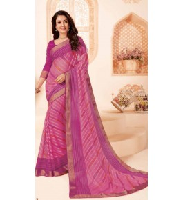 Beautiful Khushi Brasso Pink Saree For Women By Nannumal Ved Prakash