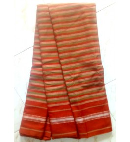 Beautiful Handloom Kandangi Sarees in Orange Colour for Women