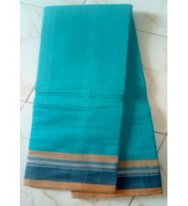 Beautiful Handloom Kandangi Sarees in Blue Colour for Women