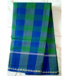 Beautiful Green Blue Colour  Handloom Cotton Kandangi Sarees  for Women
