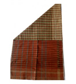 Beautiful Handloom Cotton Kandangi Sarees Check Block Pattern for Women