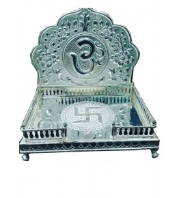 Banaras Metal Repouse Craft Silver God Singhasan