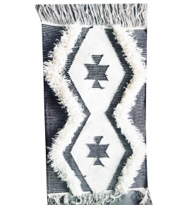 Zig-Zag Designer Sitapur Handmade Cotton Dari for Home Decor (2x3 Ft) By Arafat Handlooms