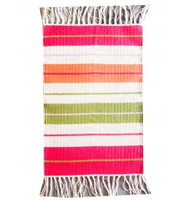 Special Colourful Sitapur Handmade Cotton Dari for Home Decor (2x3 Ft) By Arafat Handlooms