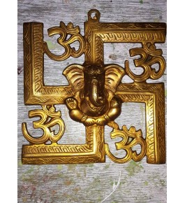 Hand Crafted Bell Metal Ware of Datia and Tikamgarh Golden Swastik