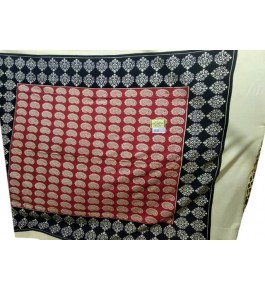 Beautiful Hapur Handloom Cotton Bedsheet with Pillow Cover for Double Bed