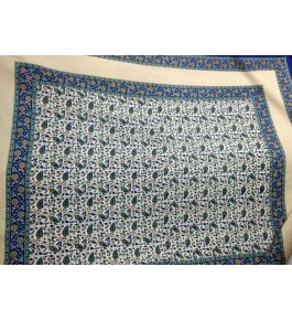 Beautiful Hapur Handloom Cotton Printed Leaf Pattern Bedsheet  with Pillow Cover for Double Bed