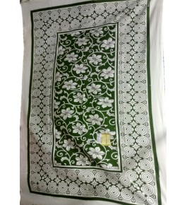 Beautiful Hapur Handloom Cotton Flower Printed Bedsheet for Single Bed