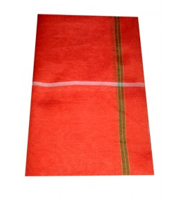 Tanda Ambedkar Nagar Textile Cotton Orange Gamcha For Men