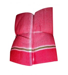 Tanda Ambedkar Nagar Textile Cotton Pink Liner Gamcha For Men