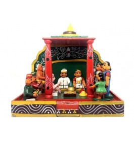 Handcrafted Kondapalli Bommallu Wooden Toy Of Authentic Marriage Segment