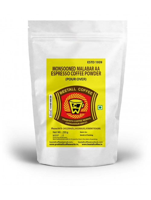 Monsooned Malabar AA Espresso Coffee Powder (Pour Over) 250g
