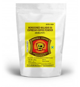 Malabar AA Espresso Coffee Monsooned Powder (Moka Pot) 250g