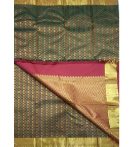 Designer Handcrafted Arani Silk Sarees  for Women Embellished with Checks Pattern