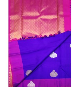 Delightful Handcrafted Arani Silk Sarees  for Women Embellished with Magenta Rose Colour