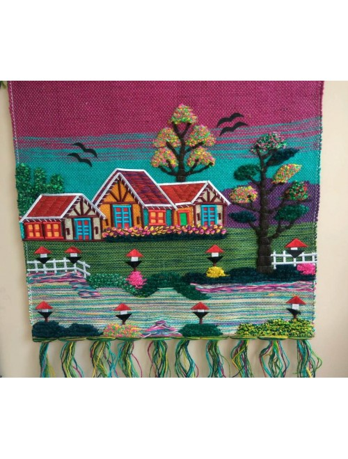 Handmade Beautiful Village House Design Ghazipur Wall Hanging