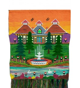 Beautiful House Design Patchwork Ghazipur Wall Hanging for Wall Decor