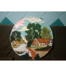 Handmade Beautiful Patchwork Round Shape Ghazipur Wall Hanging