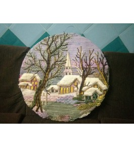 Handmade Beautiful Design Patchwork Round Shape Ghazipur Wall Hanging