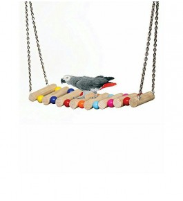 Bird View's Cage Hammock Swing Hanging Toy For Pet Birds