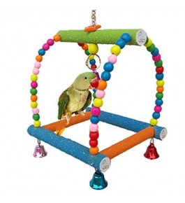 Bird View's Multicolored Hanging Toy Swing For Pet Birds