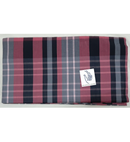 Cannanore Home Furnishings Handloom Cotton Pink, Grey, & Black Colour Double Bedsheet With Pillow Covers for Home Decor