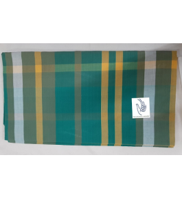 Cannanore Home Furnishings Handloom Cotton Sea Green Colour Double Bedsheet With Pillow Covers for Home Decor