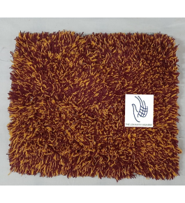 Cannanore Home Furnishings Handloom Cotton Brown Colour Multithread Doormat for Home Decor