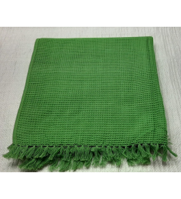 Cannanore Home Furnishings Handloom Green Colour Honeycomb Bath Towel for Water Absorbtion