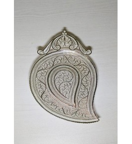Amazing Mango Shaped tray Silver Filigree of Karimnagar 120gm for Home Decor