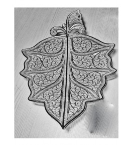 Silver Filigree of Karimnagar in Butterfly Shaped 130gm for Home Decor