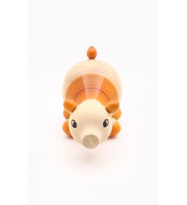 Handicraft Channapatna Toys Of Wooden Pig In White Colour Design For Playing, Decorating Purpose
