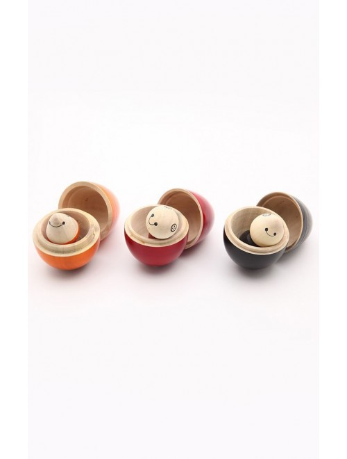 Beautiful Handicraft Channapatna Wooden Box Toy (Set Of 3) Design For Playing, Decorating Purpose