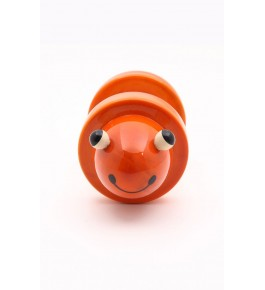 Beautiful Handicraft Channapatna Wooden Toys In Orange Colour Designed For Playing, Decorating Purpose